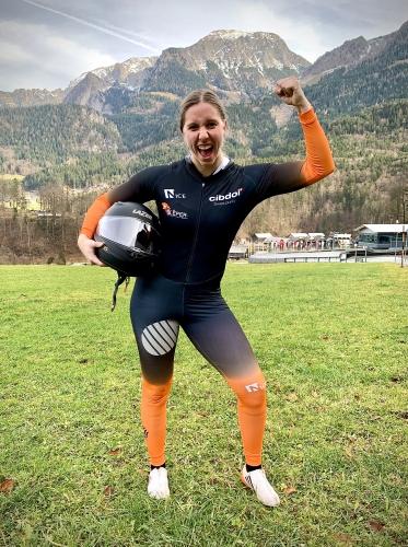 Bobslee atleet Karlien Sleper